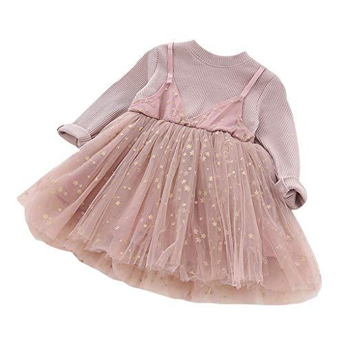 Amphia Mädchenkleid - Kinder-Baby-Rüsche-Elegante Prinzessin Party Tulle Dress ()