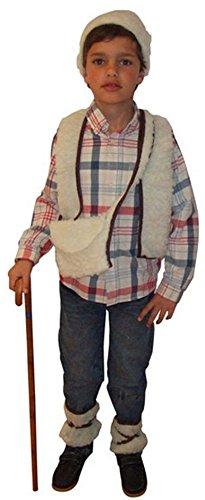 Hirten Kostüm für Jungen 98/116 (3-4 (Junge Kostüm Hirten)