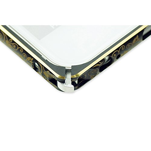 OBiDi - Floral Frame Gold Outlet Easy-Clip Metal Case / Housse pour Apple iPhone 6 / 6S (4.7 inch)Smartphone - Silver Gold