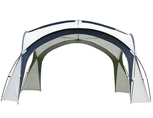 Camping Plane Sonnensegel Tarp Wasserdicht Zelt mit Innenzelt 4 Personen & Seitenschutzwand - 410 x 410 cm - für Camping Picknick (Baldachin + Innenzelt + Sonnenschutzwand)