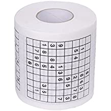 Cikuso Papel de estamapado de Sudoku Durable Tejido de Papel higienico  divertido juego Divertido Herramientas practicas 597a2c4cf1b9