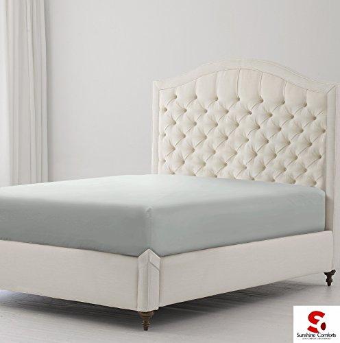 Sunshine comfort, lenzuola in cotone percalle 180fili (25 cm), angoli elasticizzati, con ridotte esigenza di stiratura, cotone, silver grey, super king