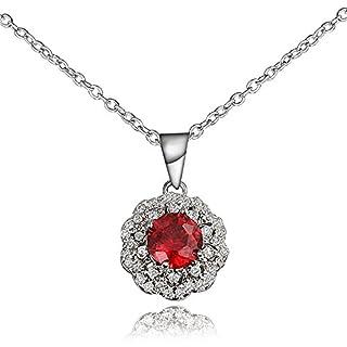 AmberMa werden Warm Rot Halskette Anhänger Kette, Modeschmuck Zubehör Designs, Geburtstag Geschenke für Frauen Hochzeit Mädchen