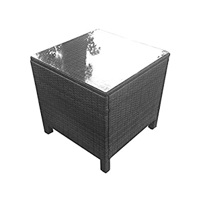 Oseasons® Morocco Rattan Square Coffee Table in Black