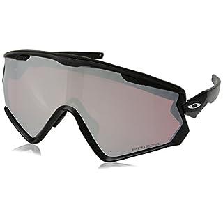Oakley Herren Wind Jacket 2.0 941802 Sonnenbrille, Schwarz (Matte Black), 40