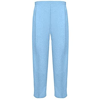 Myshoestore Pack Of 2 Ladies Womens Half Elasticated Trouser Stretch Waist Casual Office Work Formal Pull On Trousers Straight Leg Pants Bottoms With Pockets Plus Big Sizes 10-24(sky Blue, 1425) 0