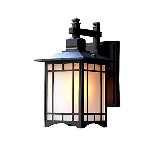 YYF Nuevo Estilo Chino Retro Aplique de Pared al Aire Libre Impermeable Lámpara de Pared Escalera de Estilo Japonés al Aire Libre luz del Jardín Villa Balcón Luces Luces del Pasillo