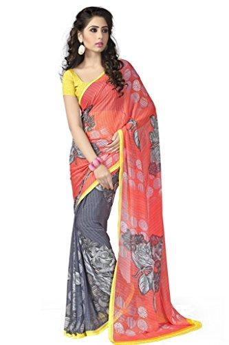 Vaamsi Chiffon Saree with Blouse Piece (Rolex3066_Multi_One Size)