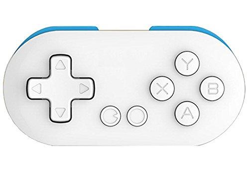 Preisvergleich Produktbild Ake Wireless Bluetooth Gamepad Mini Game Controller Joypad Self-timer Portable fur Android IOS Windows -White with Blue