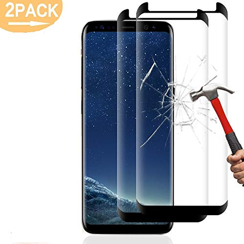 2 Stück Galaxy S8 Panzerglas Schutzfolie,Solocil 3D 9H Härtegrad HD Ultra Klar Anti-Kratzer Panzerglasfolie Displayschutzfolie Displayschutz für Samsung Galaxy S8