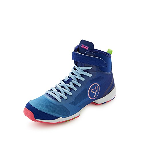 Zumba Footwear Zumba Flex II High, Damen Hallenschuhe, Blau (Blue/Pink), 42 EU (7.5 Damen UK)