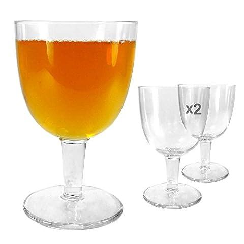 Tuff-Luv 2 x Ursprüngliche Bier-Glas / Gläser / Barbedarf CE Craft Beer Ale Abbey Glass - 418ml (14.25oz)