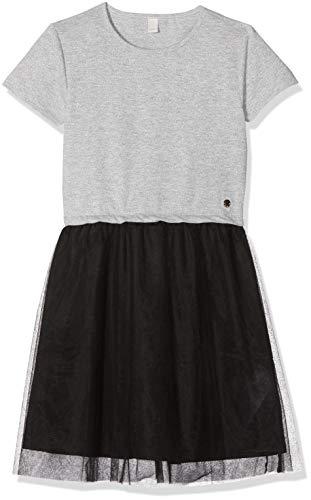 (ESPRIT KIDS Mädchen Kleid Knit Dress SS M Silber (Silver 181) 152 (Herstellergröße: M))