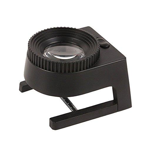 ANFF Optische Lupe Mit LED-Licht Glaslinse Photometrische Linse Identifizierung Skala Lupe...