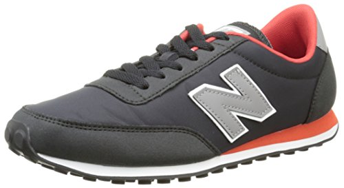 New Balance Herren U410v1 Low-Top Schwarz (Black/Grey/Orange)