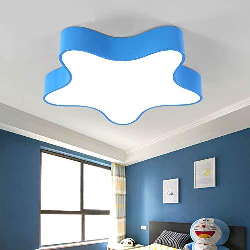 Lampada da soffitto a forma di stella a led lampada da camera da letto creativa per bambini camera da letto per bambini e ragazze in stile scuola materna illuminazione blu 45 cm