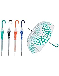 Paraguas Grande Transparente Bisetti - Varios Colores