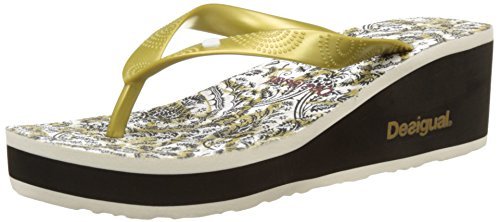 Desigual Lola Save the Queen, Flip Flop Donna Nero (black 2000)