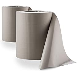 Blumfeldt Pureview • Sichtschutz • Windschutz • Sichtschutzstreifen • für Gittermattenzäune und Doppelmattenzäune • Doppelpack • 35 m x 19 cm • 60 Klemmschienen • 450 g/m² PVC-Folie • blick- und winddicht • reißfest • UV-beständig • hellgrau
