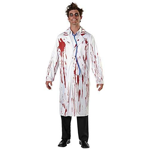 YYANG Halloween WeißEs Blutiges Zombie-Krankenschwester-KostüM Paar Erwachsene Scary Doctor KostüMe Cosplay,Women (Steampunk Paar Kostüm)