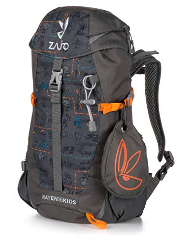 Zajo MAYEN Kids Kinderrucksack 16 Liter Nur 594g Daypack Mädchen und Jungen Trekking Rucksack Camping Wandern mit Regenhülle Beckengurt Brustgurt -