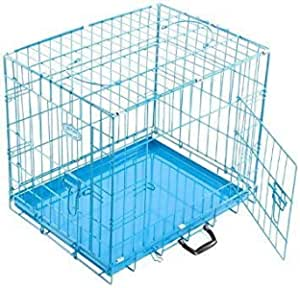 PSK Dog Cage with Removable Tray for Dogs/Rabbit Blue 30 Inch Medium