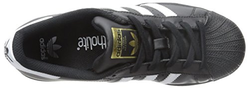 adidas Originals Superstar, Chaussons Sneaker Mixte enfant Noir/blanc