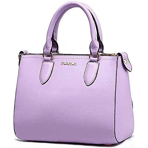 ZWJ La Signora Ol Borse Moda Pendolari , Purple Taro