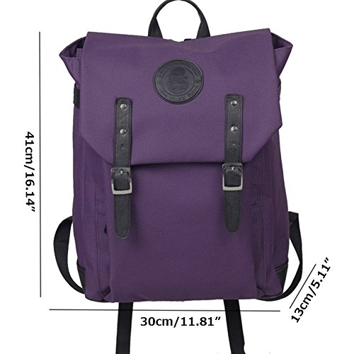 Drasawee , Damen Rucksackhandtasche Lila violett 30*13*41cm schwarz