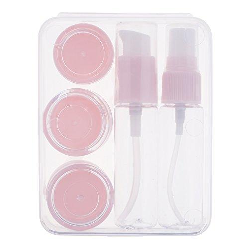 HuntGold 6pcs / Set portable voyage Mini Vide Bouteille de Maquillage Bouteille de Stockage Ensemble de Bouteilles de Voyage Rose
