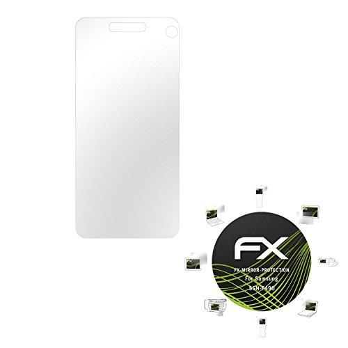 Samsung SGH-F490 Spiegelfolie - atFoliX FX-Mirror Displayschutz mit Spiegeleffekt