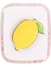 Fansi 1 Pieza Cartoon Creative Contacto Lente Estuche Watermelon Fruit Belleza Caja Lindo Cartoon Impresión Contacto Lente Case, acrílico, Beige, 7.5 * 6.5 * 2cm