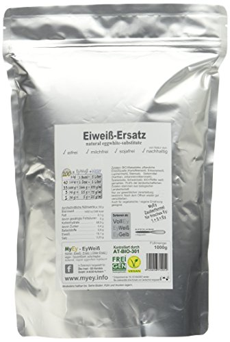 MyEy EyWeiß, Eiweiß-Ersatz, vegan, natürlich & voll aufschlagbar, mit pflanzlichen Proteinen, glutenfrei, 1er Pack (1 x 1 kg) - 4