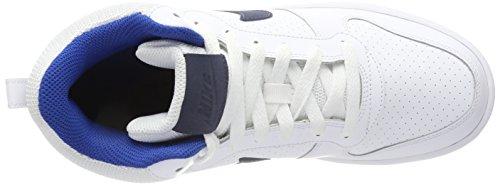 Nike Court Borough Mid, Baskets Hautes Homme Weiß (White/thunder Blue-blue Jay)