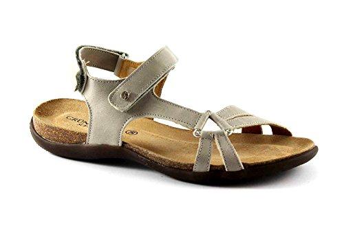 GRUNLAND ISAH SB0476 beige sandali donna strappi 39