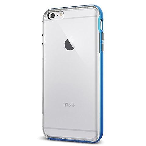 Coque iPhone 6s Plus, Spigen [Neo Hybrid EX] PREMIUM BUMPER [Electric Blue] Clear TPU / PC Frame Slim Dual Layer Premium Coque Pour iPhone 6 Plus (2014) / 6s Plus (2015) - Electric Blue (SGP11670)