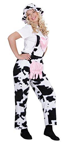 ,Karneval Klamotten' Kostüm Kuh Latzhose Frau Kostüm Karneval Tier Damenkostüm Einheitsgröße (Kinder Farm Für Tier Kostüme)