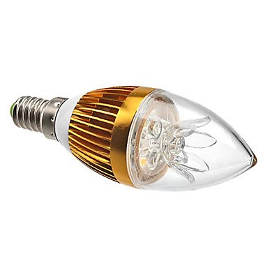 FDH 3W E14 Luces de velas LED C35 de 3 leds de alta potencia de 270 lm / decorativo blanco cálido atenuable 220-240 V CA