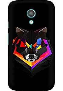 AMEZ designer printed 3d premium high quality back case cover for Moto G2 (abstract wolf)