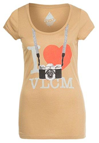Volcom da donna, stampata solo-Maglietta donna - Brown/Khaki
