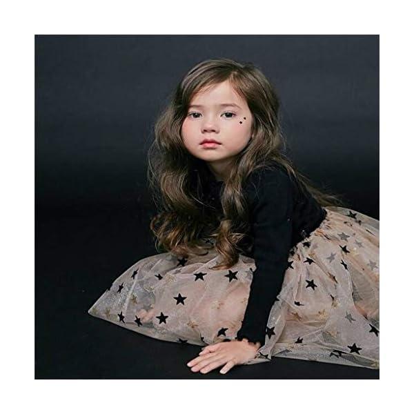 Mitlfuny Bebé Princesa Tutú Vestido de Fiesta Verano Ropa Niñas Pentagram Lentejuelas Tul Cosiendo Vestidos de Manga… 4