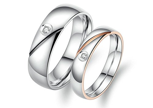 BeyDoDo Modeschmuck 1 PCS Edelstahl Herren Ring Edelstahlring Hochglanzpoliert Zirkonia Breite 6MM Verlobungsring Silber Ring Hochzeit Ringgröße 62 (Arten Kostüme Verschiedene Von Nerd)