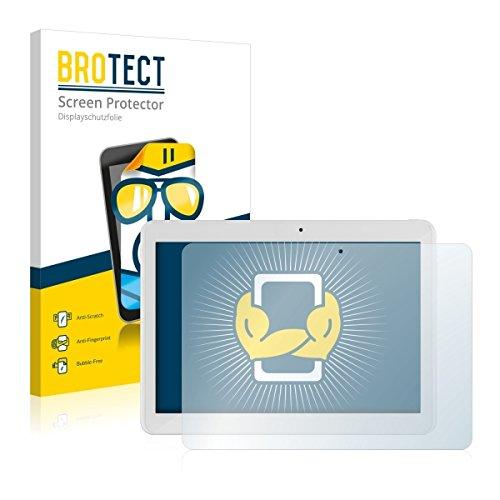 2X BROTECT HD Clear Bildschirmschutz Schutzfolie für i.onik TM3 Series 1 10.1 (kristallklar, extrem Kratzfest, schmutzabweisend)