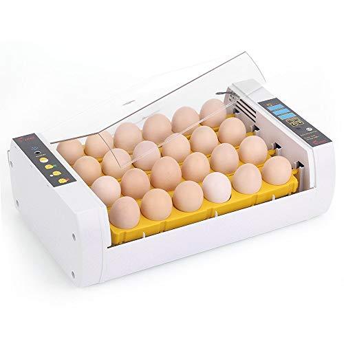 BlackEdragon Inkubatoren für Geflügeleier, Digitales Brutmaschine Automatisch Inkubator Brutautomat Vollautomatische 24 Eier für Enten, Hühner, Wachteln