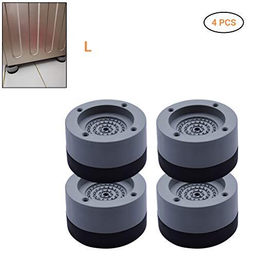Comtervi 4 Stück Waschmaschinen Unterlage Schwingungsdämpfer Vibrationsdämpfer Antivibrationsmatte - Gummi Füße für Waschmaschine Trockner Waschmaschinenzubehör