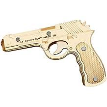 Beretta M9 goma banda 3D rompecabezas de la burbuja de madera, decoración del hogar,