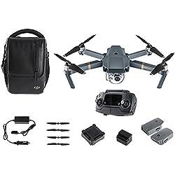 DJI Mavic Pro Fly More Combo - Dron cuadricóptero (4 k/30 fps, 12mpx, 65 km/h, 27 minutos, 8 accesorios) color negro