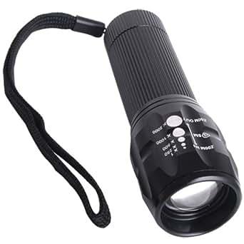 fitTek® 240LM CREE Q5 LED Taschenlampe Flashlight + Tasche Neu