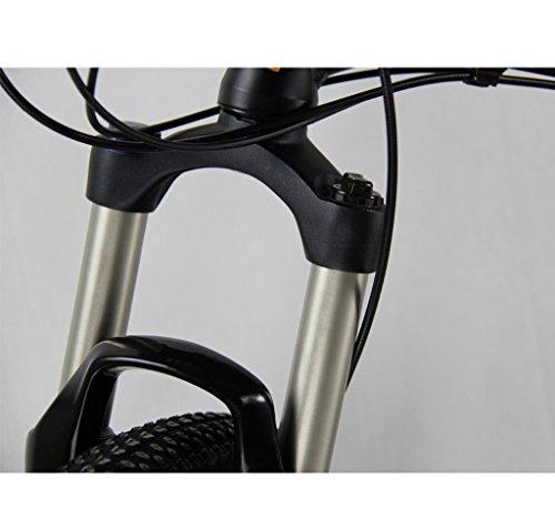 Cyrusher®-FR100-Non-Vibrato-Mountainbike - aktualisiert, schwarz - klappbarer Rahmen - MTB - Dual-Suspension - Herren-Fahrrad - matt schwarz - Shimano M310Altus, 24Geschwindigkeiten/Gänge - Alu-Rahmen; 17 x 26 Zoll - Fahrrad mit Scheibenbremsen
