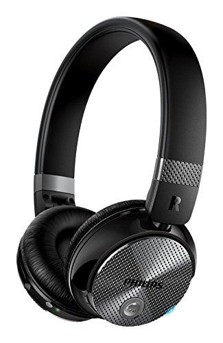 Philips SHB8850NC/00 - Auriculares inalámbricos con reducción de ruido (cerrado parte posterior, almohadillas suaves, plegado compacto), negro